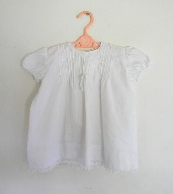 Vintage White Cotton Baby Dress