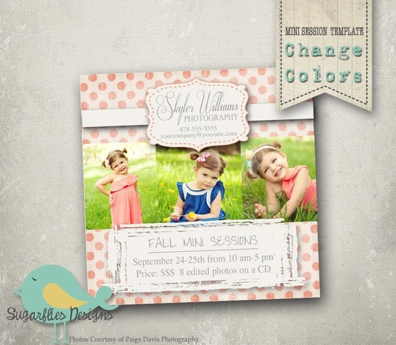 5x5 Mini Sessions Template - Mini Photoshoot 2