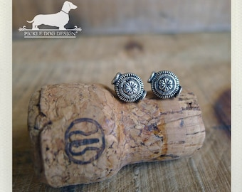 Taffy. Post Earrings -- (Flower, Silver, Studs, Small, Romantic, Simple, Classic, Vintage-Style, Rustic, Birthday Gift For Her Under 10)