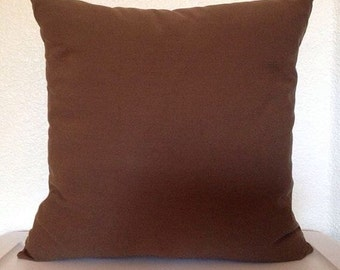 Single Pillow Cover 12x16 or 18 inch-Free Shipping - Solid Brown