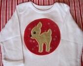 Christmas deer/ reindeer bodysuit
