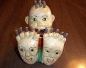 Chalkware Happy Feet Matchstick holder