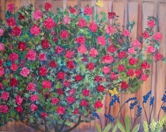 """Original Oil Landscape """"Summer Blooms"""""""