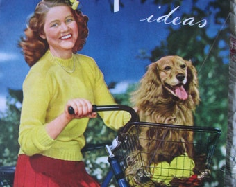 Vintage Patterns Knit and Crochet Accessories Sweaters Fascinators Booklet Published in 1944