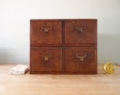 Vintage Library Drawers (Set of 2 double drawers)