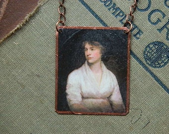Mary Wollstonecraft necklace mixed media jewelry