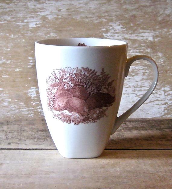 Mug with Hedgehogs  and Trees