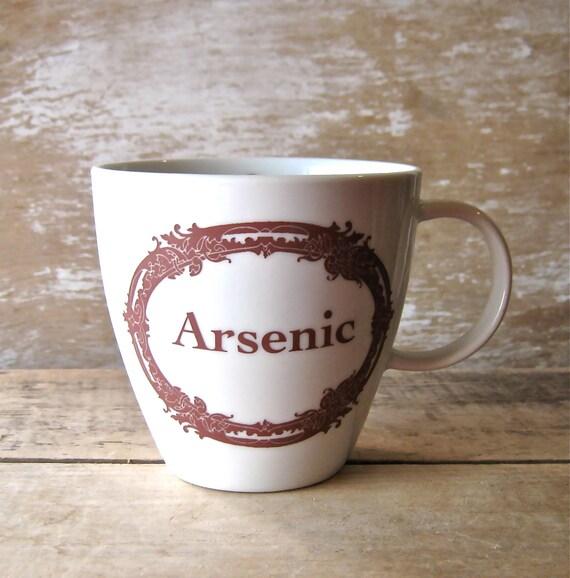 Mug with Arsenic Poison Apothecary Label, Macabre Humor Mug