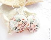SALE - Vintage flower earrings