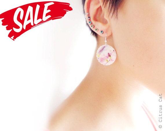 SALE - Sakura cherry blossoms earrings