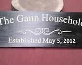 Carved Cedar Sign / Family Sign / Custom established