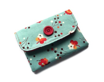 Fabric Wallet/Purse- Front pocket - Velcro closure- phone,cards, money- UK Seller