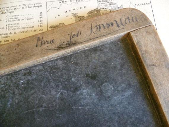 School Slate. Edwardian, French Circa 1900-1910