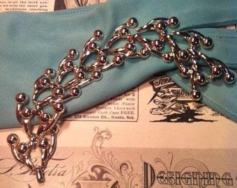 Vintage Silver Tone Ball Design Bracelet