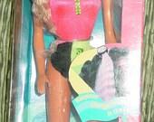 NIB Beach Blast Barbie Doll Miko 1989