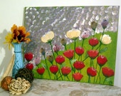 Floral Painting field of flowers 11x14