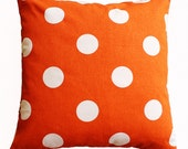 "CLEARANCE SALE!!!! PAIR of Sweet Potato Dots Pillow Cover - 18"" X 18"" Pillow Cover"
