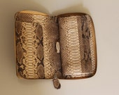 Charice Purse in Exotic Beige Patterned  Python Skin Color