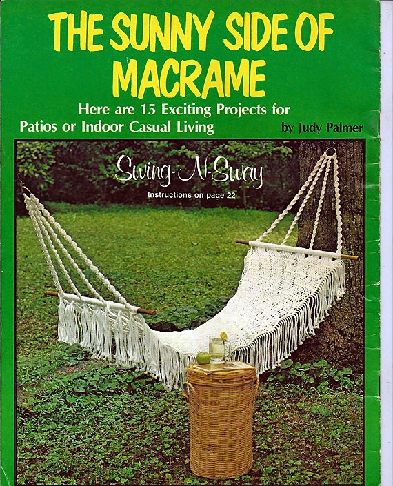The Sunny Side Of Macrame  Pattern Book Plaid 7397