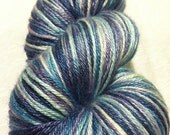 Sugared Sheep  Silk Mousse Sock Yarn - Grapeberry-Blue