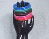9 Vintage Colorful Plastic bracelets