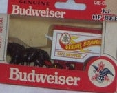 Vintage Budweiser Die Cast Metal Horse Drawn Cart Collectible Anheuser Busch Inc