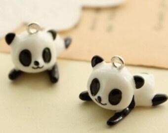 6 pcs  22 x 17 mm beautiful resin Panda cabochons Charm craft jewelry by sunshinepark99