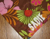 Personalized Tropical Island Dog Bandana - Size Small