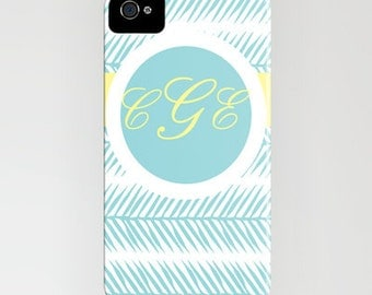 Personalized iPhone Case-Fern Banner for iPhone 6, 6 Plus  5/5c, 5s, 4/4s, 3gs/3s,  iPod Touch, Samsung S4, S5
