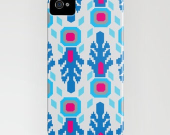 Phone Case-Blue Ikat for iPhone 6, 6 Plus  5/5c, 5s, 4/4s, 3gs/3s,  iPod Touch, Samsung S4, S5