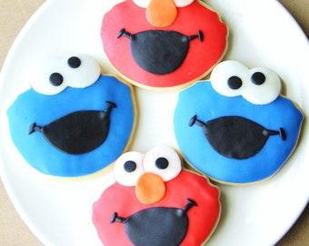 Elmo Cookie Monster Cookie Favors