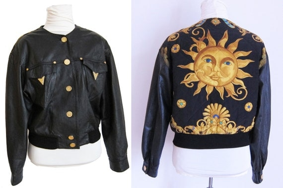Fabulous Leather Jacket with Quilted Back