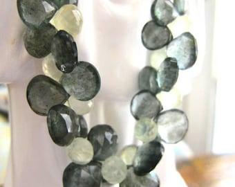 Triple Delight Moss Aquamarine Gemstone Dream necklace