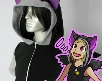 Bat Hoodie, Costume, Cosplay, Adult Size, Hand-made