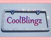 Super Bling Rhinestone CRYSTAL AB License Plate Frame Diamond Sparkle