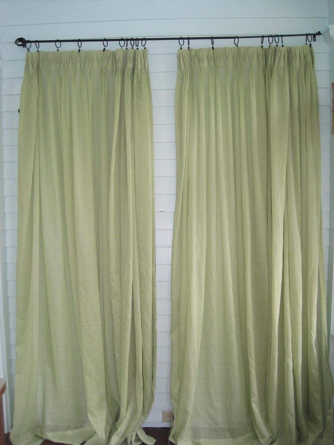 Vintage Green Curtains Pair Of Mint Green Sheer Curtains Xl