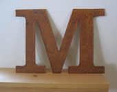 "8 inch Metal letter ""M"""