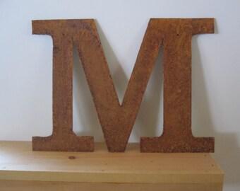 "Metal letter ""M"""