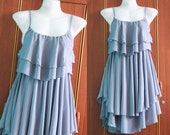 Soft Blue Cocktail Dress - Sweet Heart Chiffon Dress - Romance Night Party Dress Prom Dress