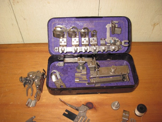 Assemblage of Vintage Griest Rotary Sewing Machine Accessories