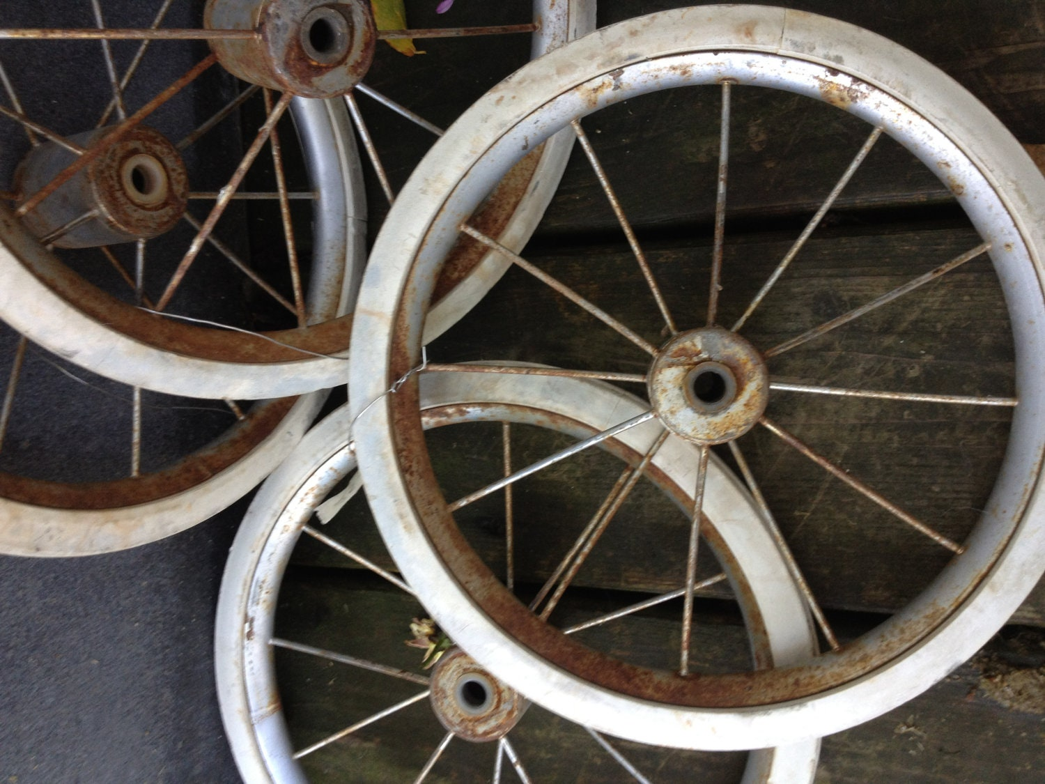 Vintage Baby Carriage Wheels Steampunk Decor