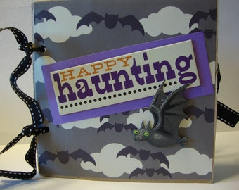 Happy Halloween Happy Haunting scrapbook album- Paper bag album to showcase your halloween memories