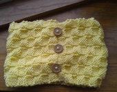 pay it forward Yellow basket weave neckwarmer knit