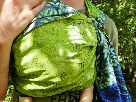 10% OFF Hand-dyed Batik Reversible Baby Sling