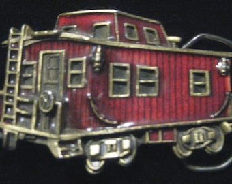 Vintage 1979 The Great American Buckle Co. Caboose Belt Buckle