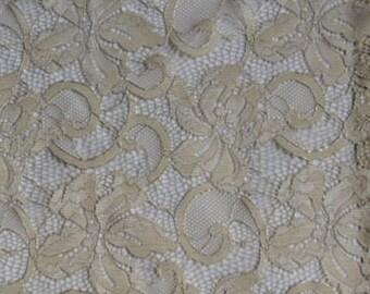 Designer Fabric Sample - Saletex Fabric, Pattern Concerto, Color Ivory