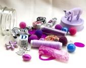 Lavender Purple Piglet Treasure Jar