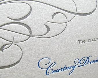 Simple Flourish Wedding Invitations