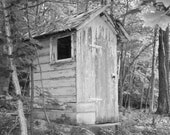 Exclusive photo for Mary Outhouse   When ya Gotta Go  16x20 B&W
