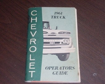Vintage 1961 Chevrolet Truck Operators Guide 2nd Edition